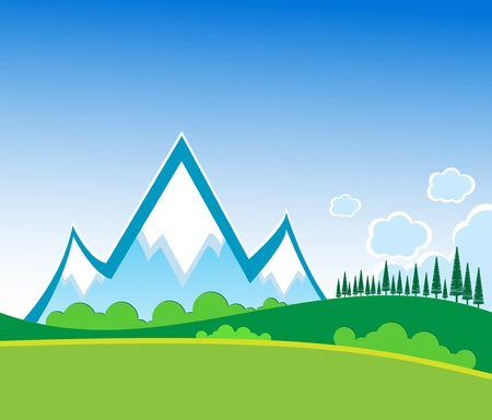 Mountain vector format Stock Vector - 11882478