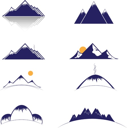 rocky: Mountain vector-formaat Stock Illustratie