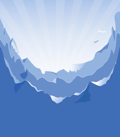 Mountain vector format Vector