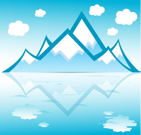Mountain vector format Stock Vector - 11882476