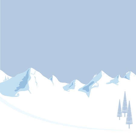 scenic: Mountain vector format