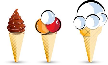ice cream vector Vector