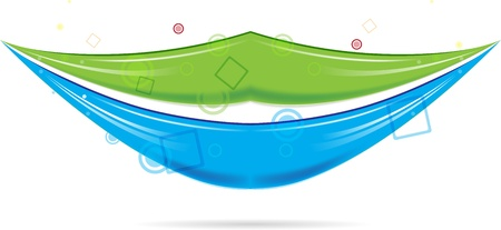 big smile: Green and blue smiling lips vector