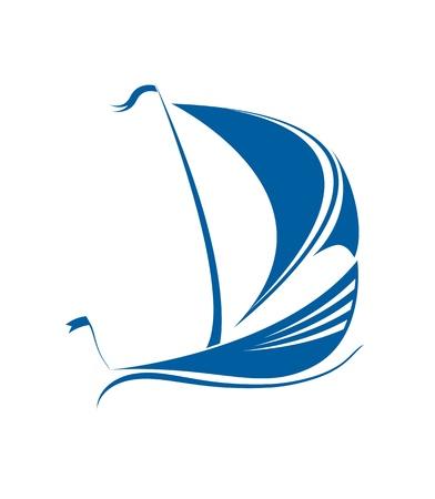 cruising: Veliero in formato nell'oceano