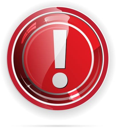 alerta: Brillante bot�n con el signo de exclamaci�n para aplicaciones web