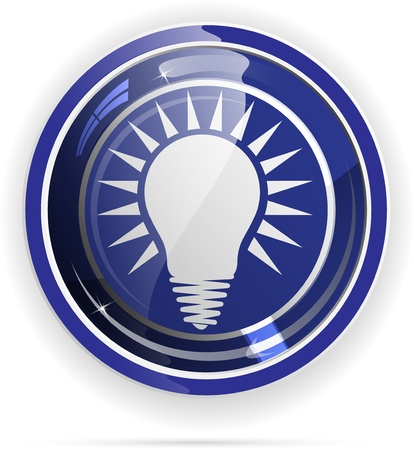 Light bulbs button. Vector