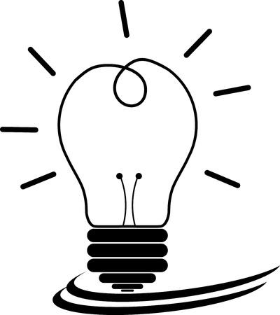 metal light bulb icon: Light bulbs  Illustration