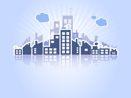 housing estates: Beni immobili Vettoriali