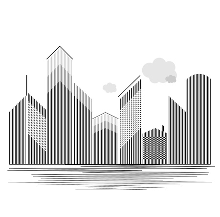 housing estates: Immobiliare colore grigio estate Vettoriali