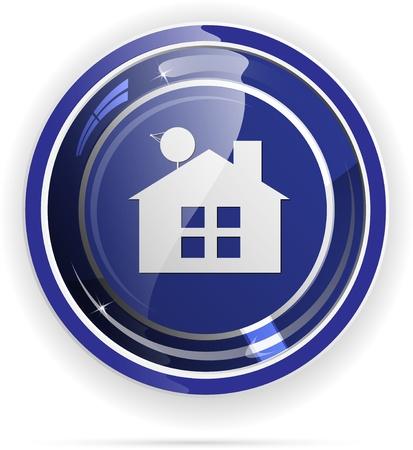 home moving: Inmobiliaria bot�n de la web Vectores