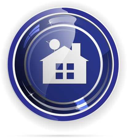 Real estate web button Stock Vector - 12166230