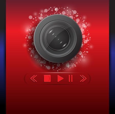 Web camera vector background