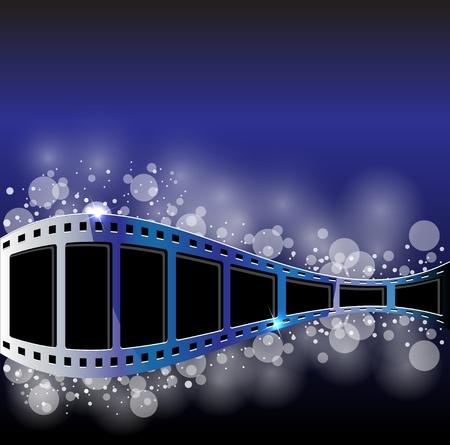Filmstreifen Vektor Hintergrund Standard-Bild - 12166233