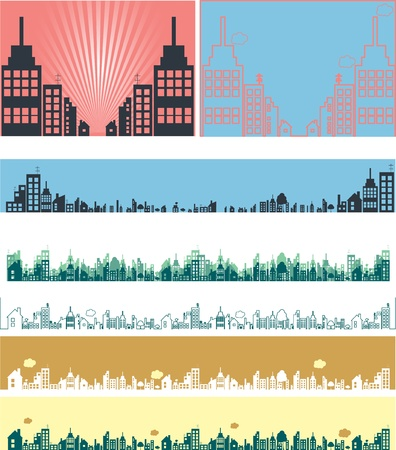 Real estate vector banners Illustration