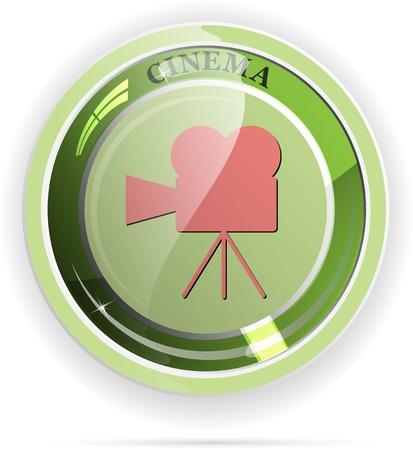 Cinema button vector Illustration