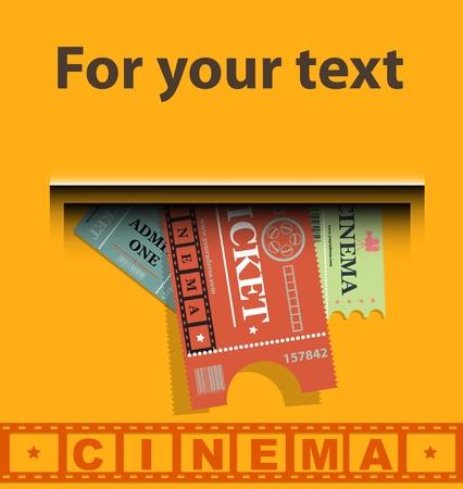 Cinema tickets background vector Stock Vector - 12166258