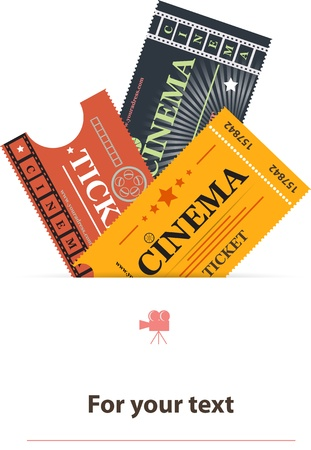 entry admission: Cinema tickets background vector