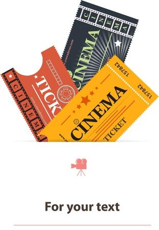 cinema background: Cinema tickets background vector