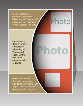 flyer layout: Flyer design vector format Illustration