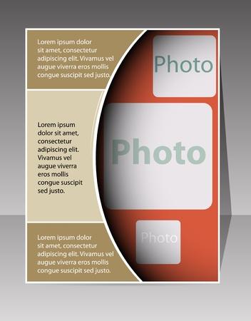 format: Flyer design vector format Illustration