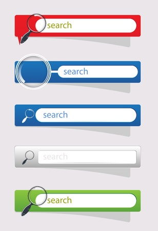 Search buttons for website search vector