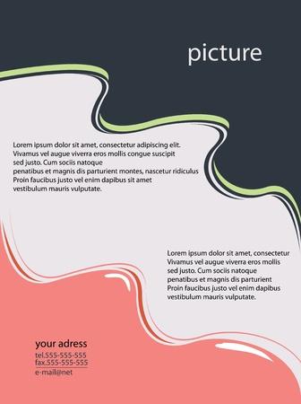 flyer design vector format Vector