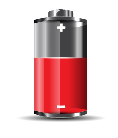 alkaline: Glossy battery vector format