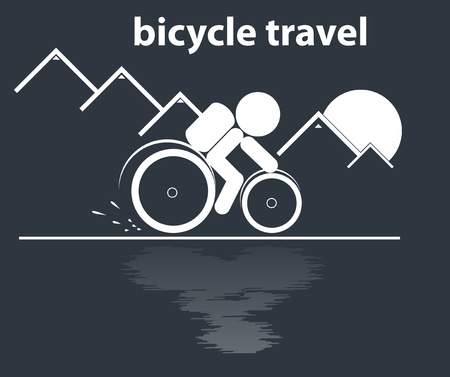 training wheels: bicycle travel in mountain vector