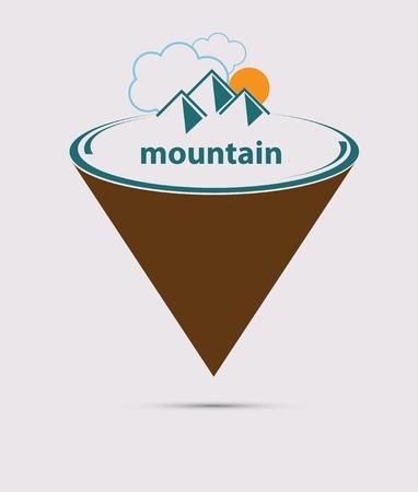 Mountain stylized vector format Vector