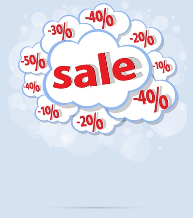 sale percent cloud vector format Vector