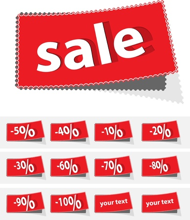 sale percent label vector format Vector