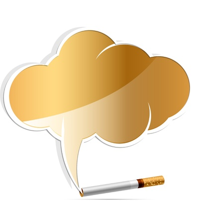 addiction: no smoking alarm cloud vector illustration
