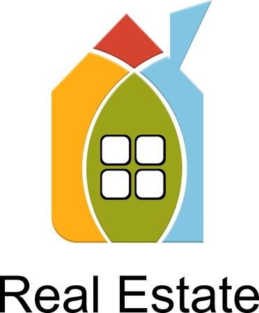 apartment market: casa de bienes ra�ces de las tarjetas de color Vectores