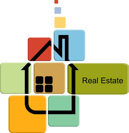 real estate on color cards Vector
