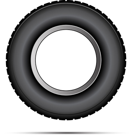 tire shop: car tire vector