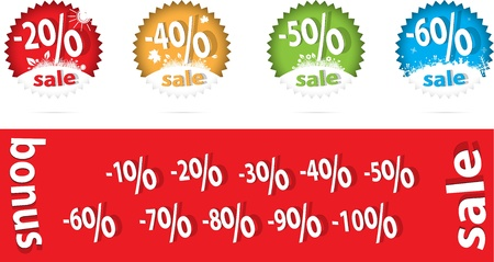 sale percent label vector format