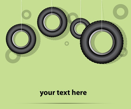 car tire vector background Vector