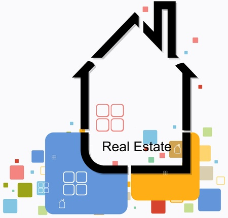 real estate house background vector Vector