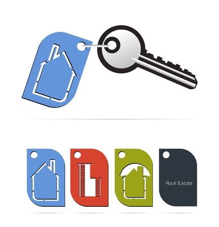 real estate label for keys Stock Vector - 12463823