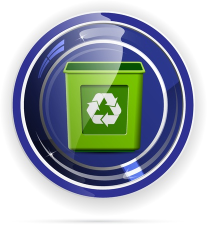recycle button, environment protection, vector format Stock Vector - 12463828