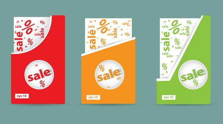 sale cards for shopping vector Vector