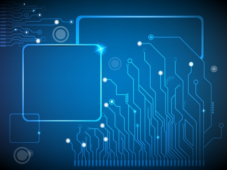 electronic board: circuit board vector background Illustration