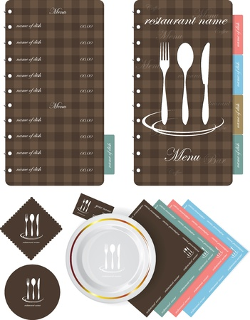 dinner menu: menu style vector