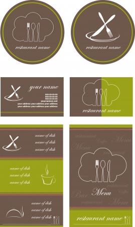 menu style vector Vector