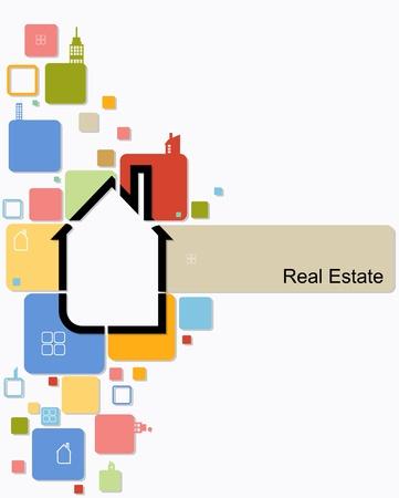 housing estates: immobiliare casa vettore sfondo