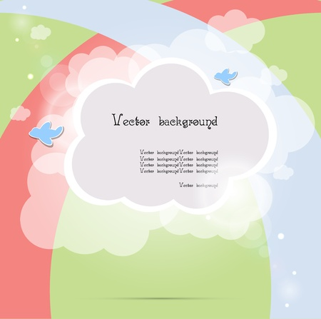 child cloud vector background Vector