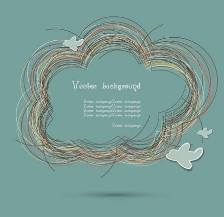cloud nest vector background1 Vector
