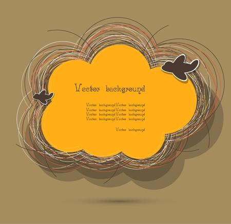 birds nest: cloud nest vector background