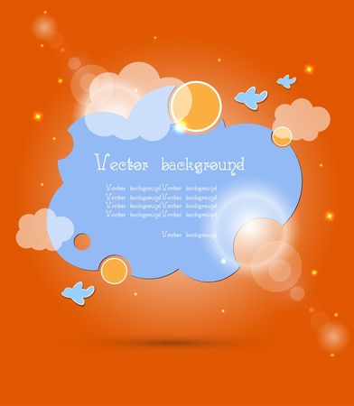 cloud vector background Vector