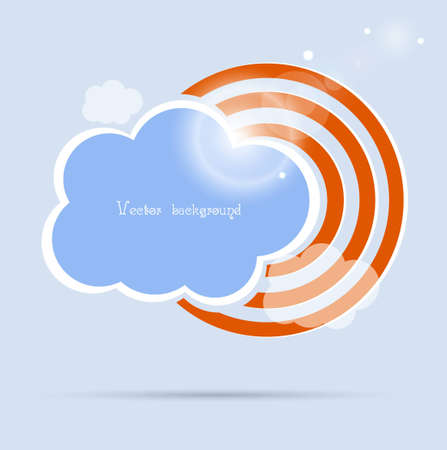 communication icons: cloud vector background